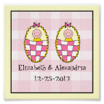 Twin Girls Keepsake Gift Print