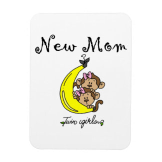 Twin Girls New Mom Gifts Rectangular Photo Magnet