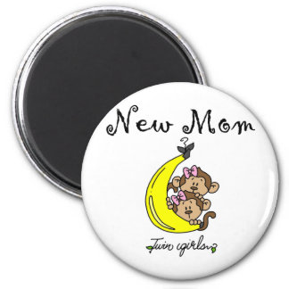 Twin Girls New Mom T-shirts and Gifts 2 Inch Round Magnet