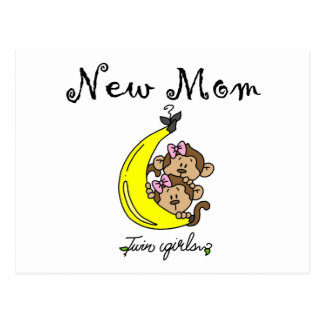 Twin Girls New Mom T-shirts and Gifts Postcard