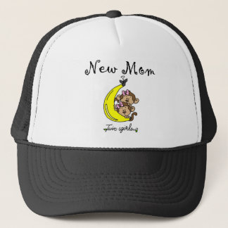 Twin Girls New Mom T-shirts and Gifts Trucker Hat