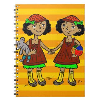 Twin Girls Notebook