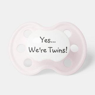 Twin Girls Pacifier