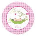 Twin Girls Pea in a Pod Baby Shower Favor Sticker zazzle_sticker