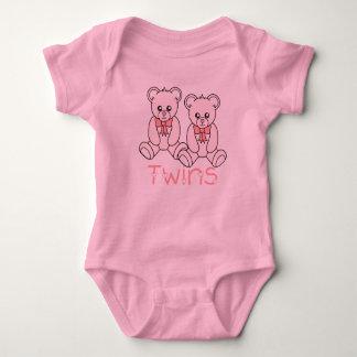 Twin Girls Pink Bears T-Shirt