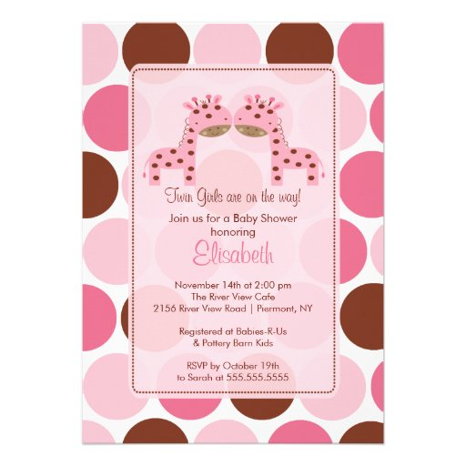 Twin Girl Baby Shower Invitations correctly perfect ideas for your invitation layout