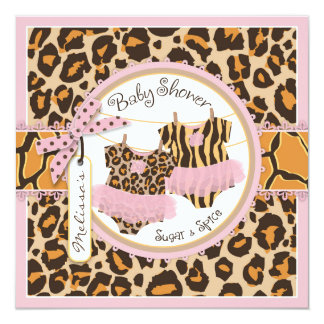cheetah baby shower invitations  announcements  zazzle, Baby shower invitations