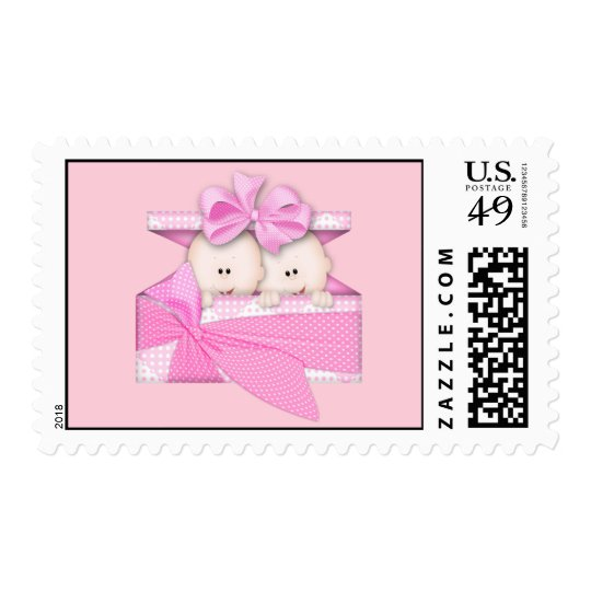 Twin Girls Postage Stamps