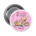 Twin Girls - Princesses Buttons