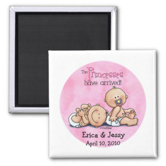 Twin Girls - Princesses Magnet