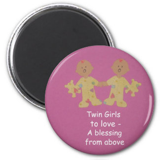 Twin girls to love! magnet