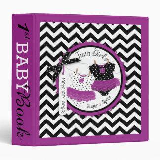 Twin Girls Tutus Memory Book Album Binder