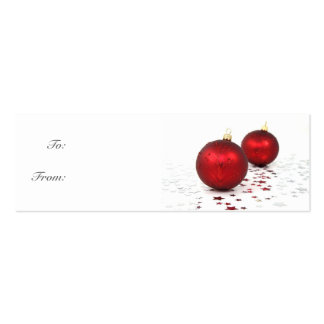 Twin Globes Gift Tag Double-Sided Mini Business Cards (Pack Of 20)