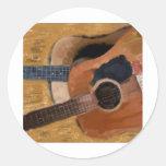Twin Guitars Watercolor Sticker