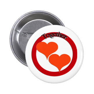 Twin hearts show you have someone to love! pinback button