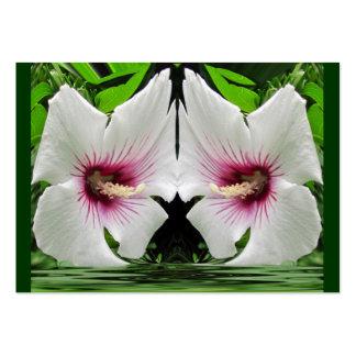 Twin Hibiscus ~ ATC Business Card