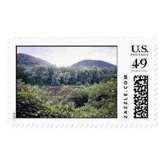 Twin Hills scene. Postage Stamp