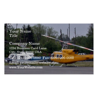 Twin Huey helicopters with trees in background Double-Sided Standard Business Cards (Pack Of 100)