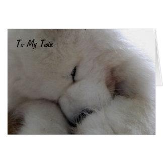 TWIN I WISH U HAPPY BIRHTDAY WITH ALL MY HEART GREETING CARD