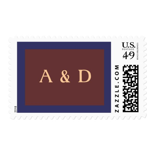 Twin initial masculine stamp
