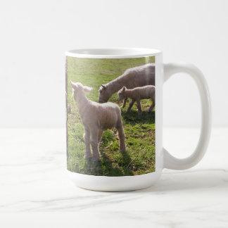 Twin Lambs Classic White Coffee Mug