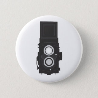 Twin-Lens Reflex Camera (TLR) Pinback Button