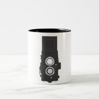Twin-Lens Reflex Camera (TLR) Two-Tone Coffee Mug