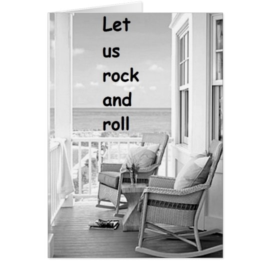 TWIN-LET US ROCK/ROLL ON YOUR BIRTHDAY CARD