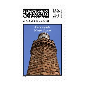 Twin Lights North II Postage Stamp