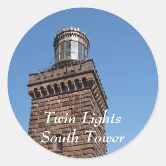 Twin Lights South Sticker