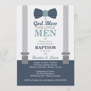baptism invitation printable baptism announcement boy baptism digital baptism Rheilly baptism invitation printed baptism 5x7