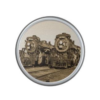 Twin Locomotive Railroad Train Engines Vintage Bluetooth Speaker