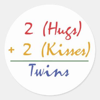 Twin Math Classic Round Sticker