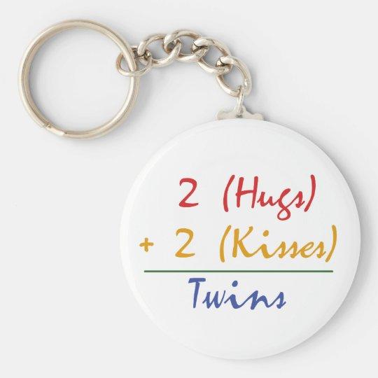 Twin Math Keychain
