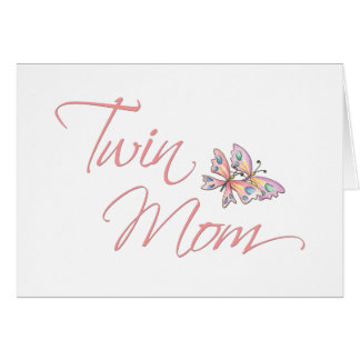 Twin Mom Butterflies Card
