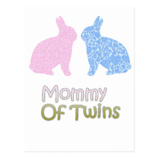 Twin Mommy Postcard