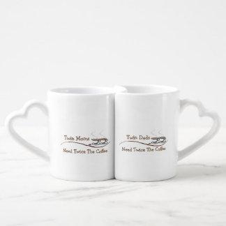 Twin Moms & Dads Need Twice The Coffee - Mug Set