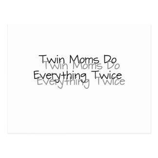 Twin Moms Do Everything Twice Postcard