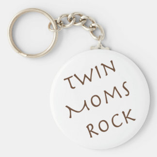 Twin Moms Rock Keychain