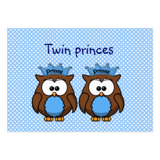 twin owl princes large business card