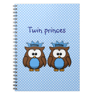 twin owl princes note book