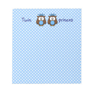twin owl princes notepad