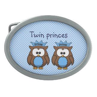 twin owl princes oval belt buckles