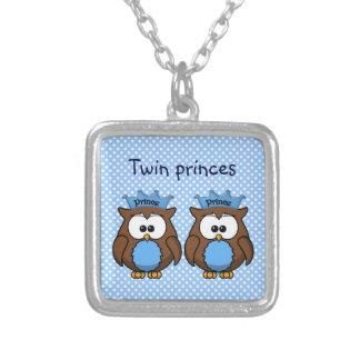 twin owl princes pendant