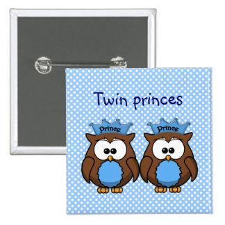 twin owl princes pin