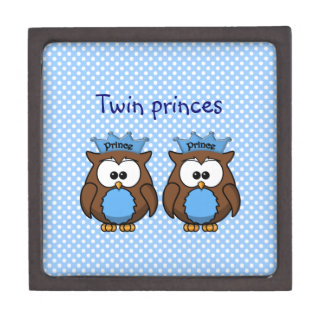 twin owl princes premium keepsake box