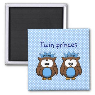 twin owl princes refrigerator magnet