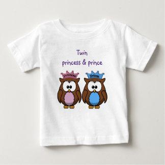 twin owl princess & prince baby T-Shirt