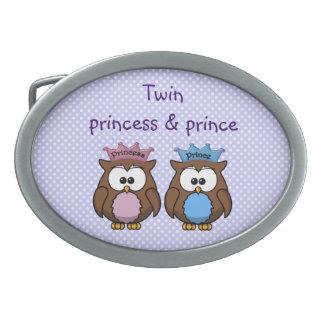 twin owl princess & prince belt buckle
