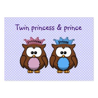 twin owl princess & prince large business card